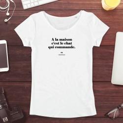 T-Shirt Femme - A la maison...