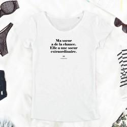 T-Shirt Femme - Ma sœur a...